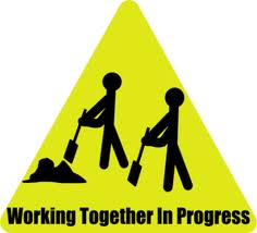working together sign