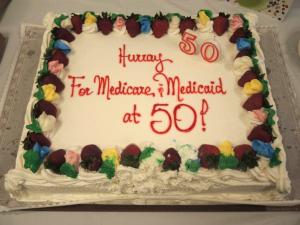 M&M 50 cake