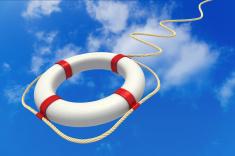 tossed lifesaver